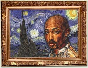 Tupac Shakur van gogh framed
