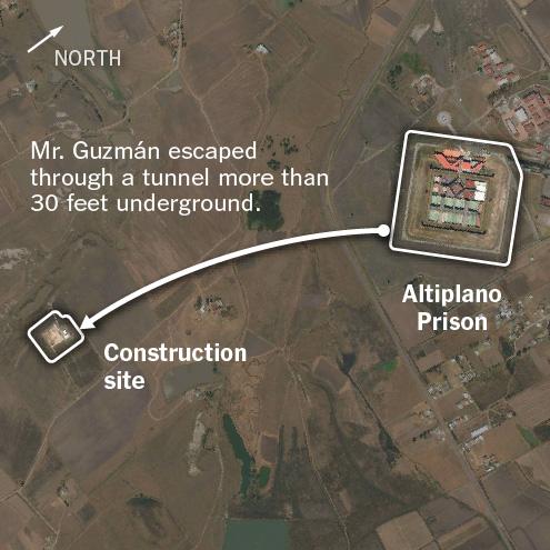 El Chapo Escape Route